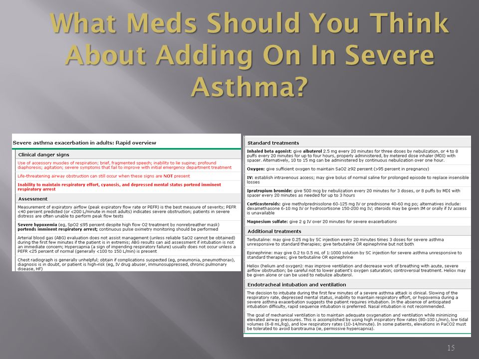 What Meds Should You Think About Adding On In Severe Asthma