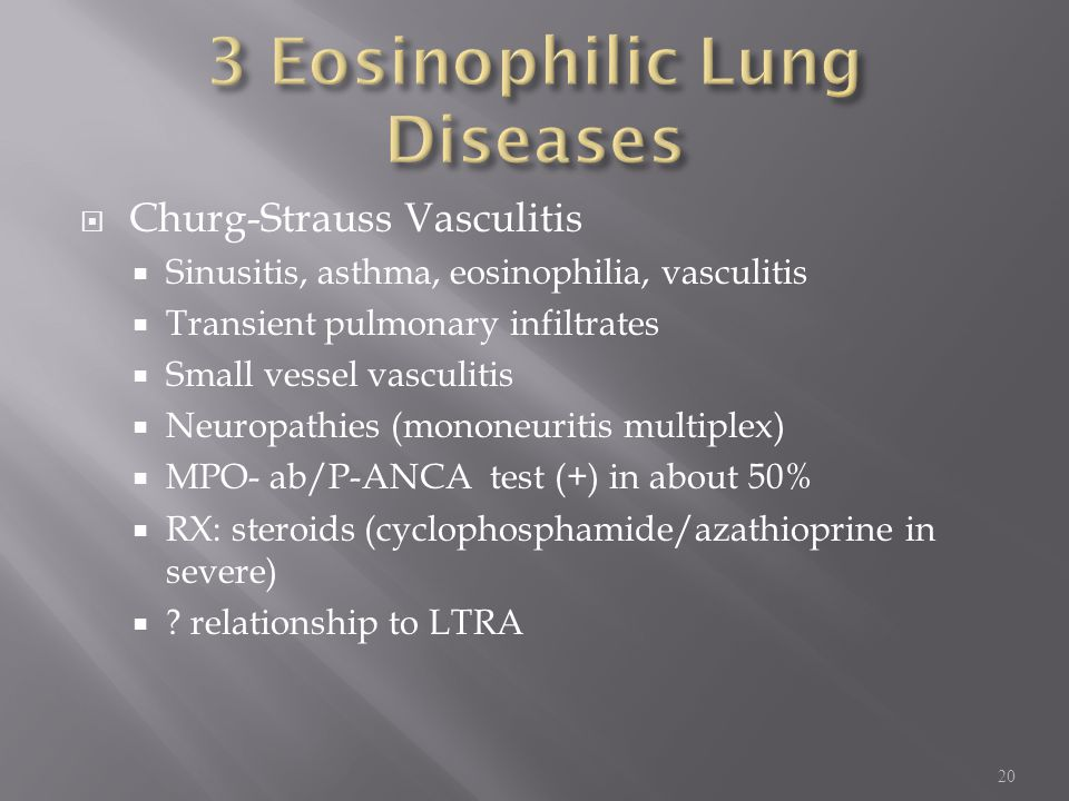 3 Eosinophilic Lung Diseases