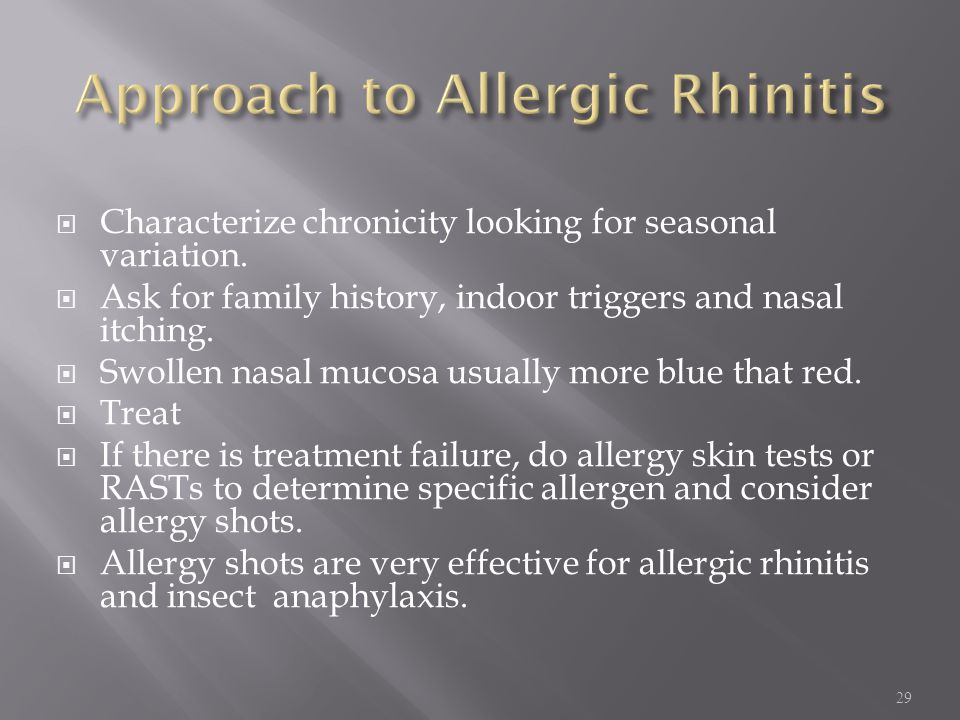 Approach to Allergic Rhinitis