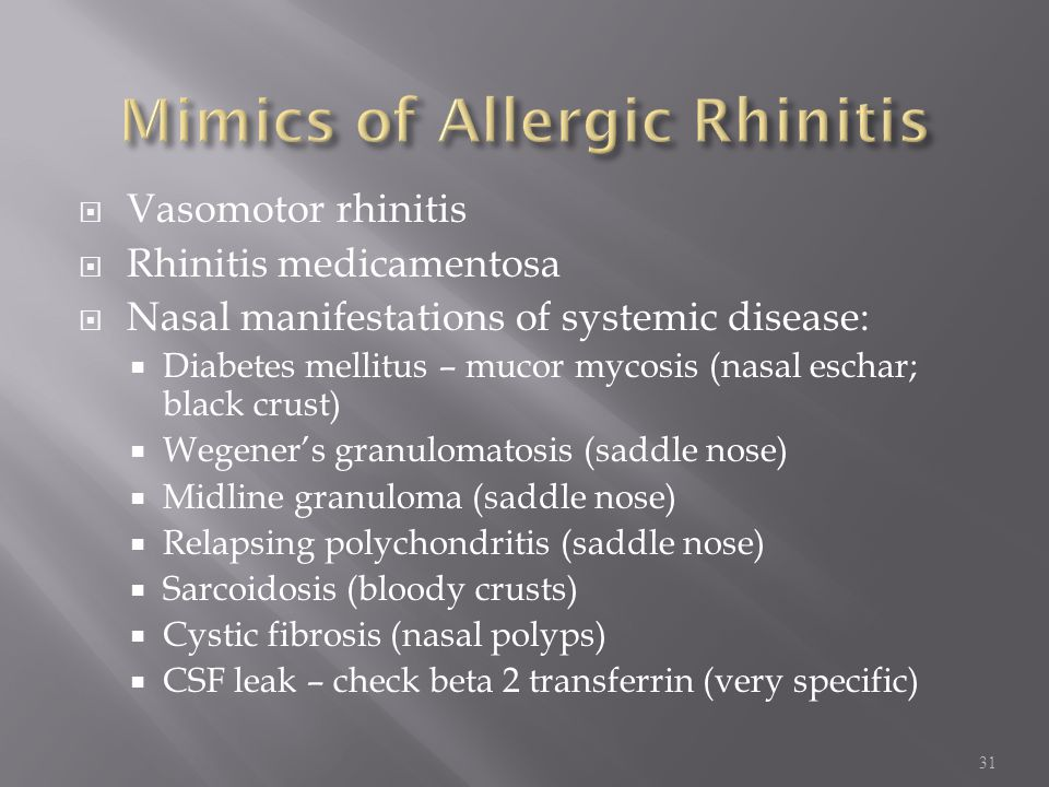 Mimics of Allergic Rhinitis