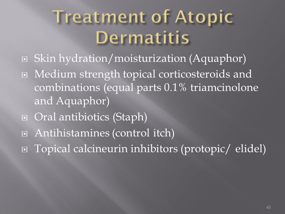Treatment of Atopic Dermatitis