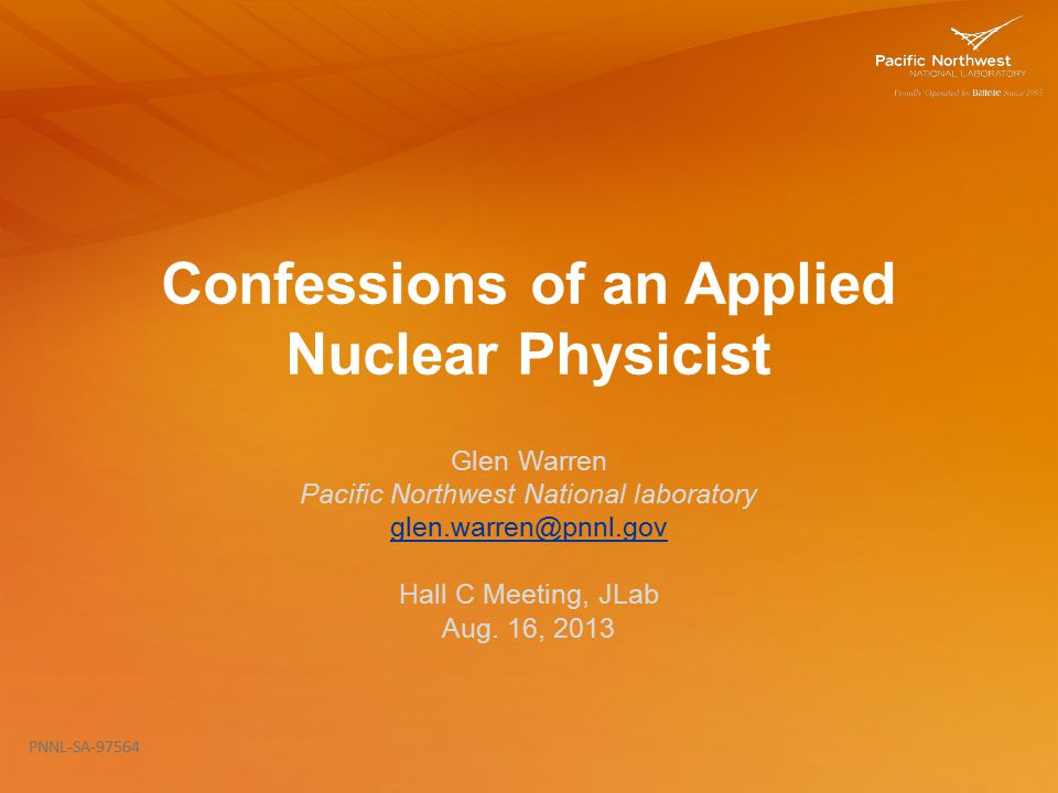 Confessions of an Applied Nuclear Physicist