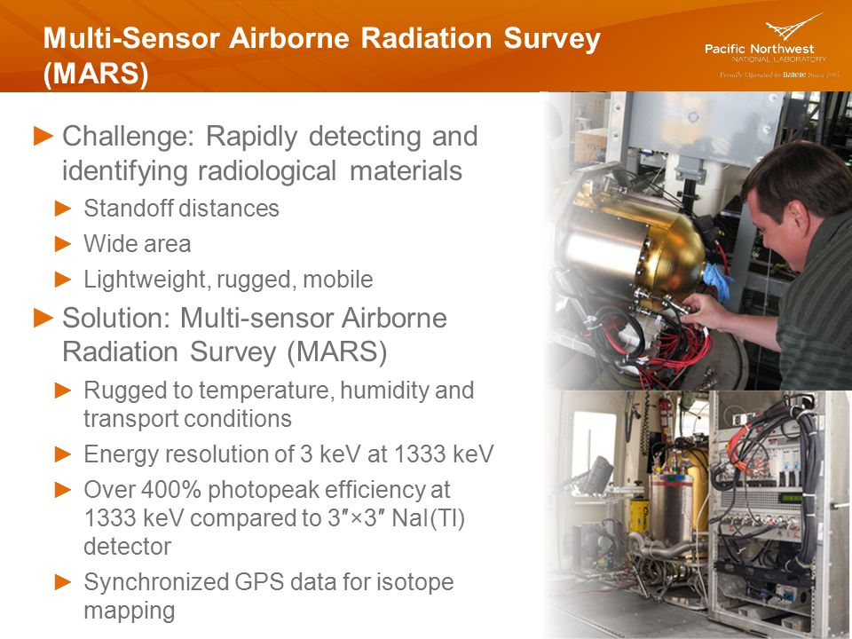 Multi-Sensor Airborne Radiation Survey (MARS)