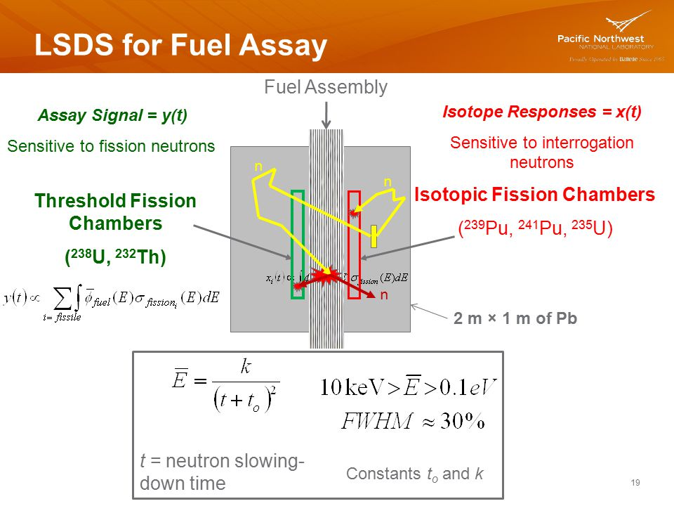 LSDS for Fuel Assay Fuel Assembly Isotopic Fission Chambers