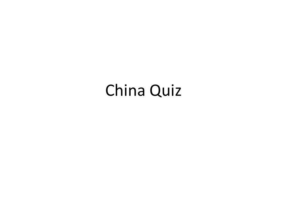 China Quiz