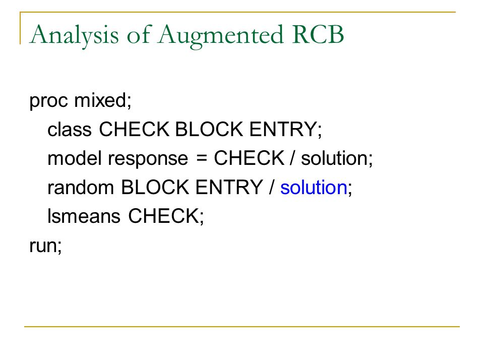Analysis of Augmented RCB