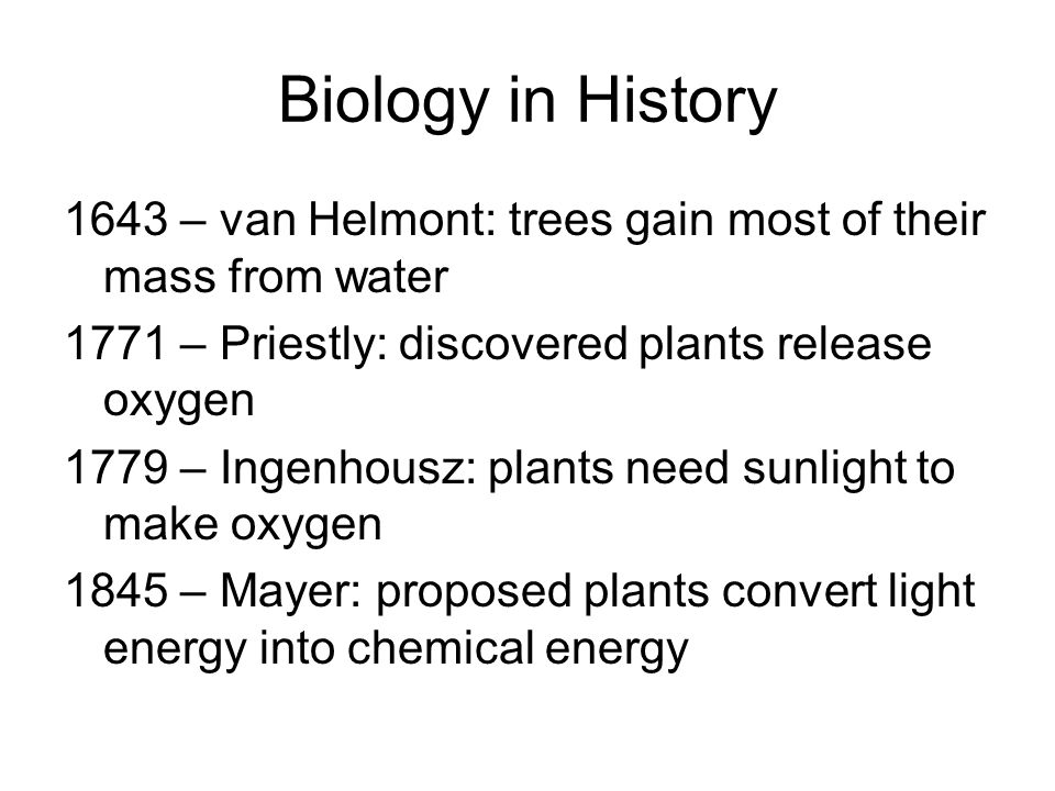 Biology in History