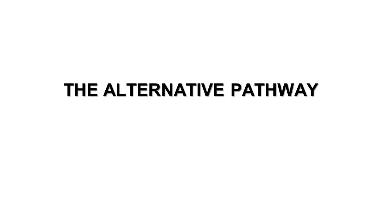THE ALTERNATIVE PATHWAY