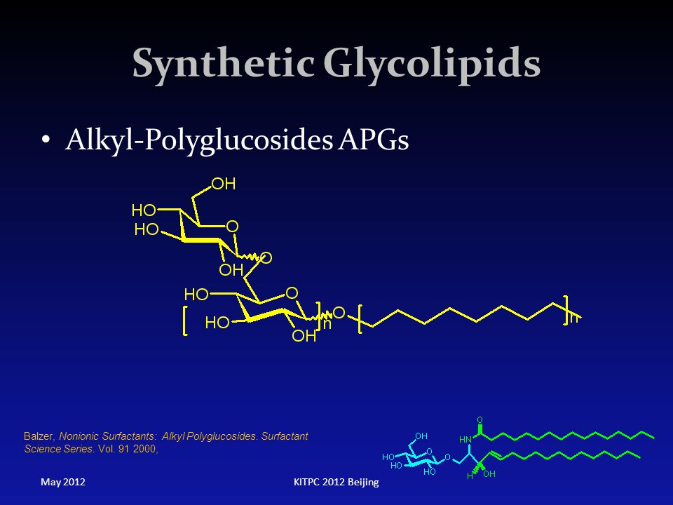 Synthetic Glycolipids