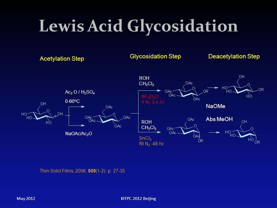 Lewis Acid Glycosidation