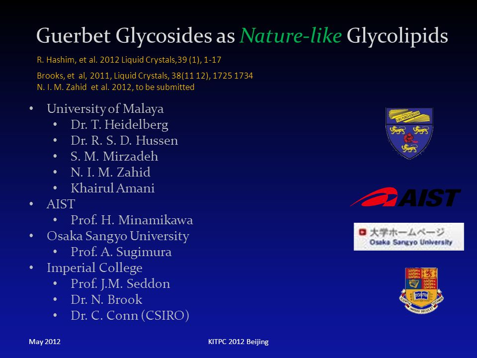 Guerbet Glycosides as Nature-like Glycolipids
