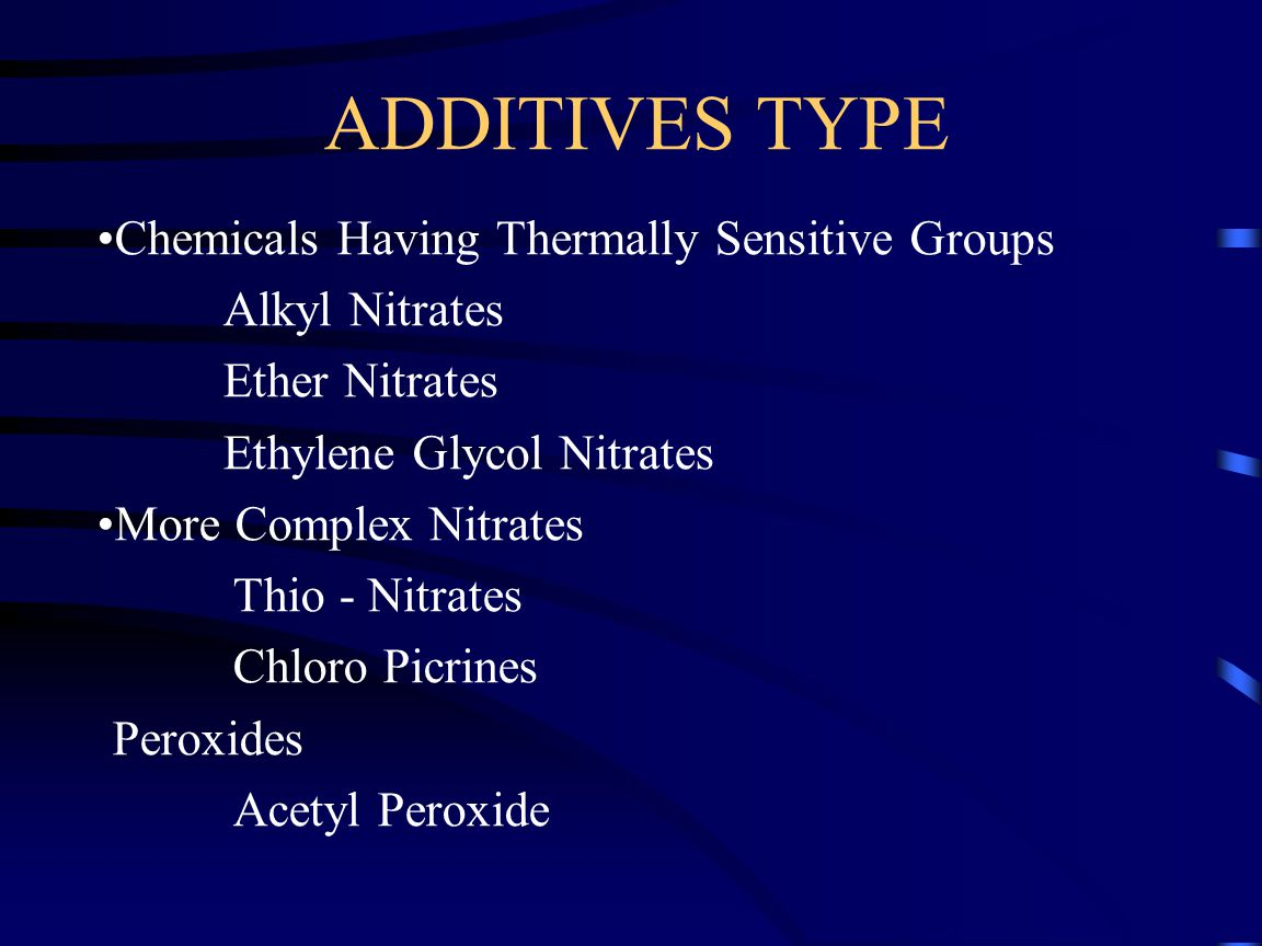 ADDITIVES TYPE Chemicals Having Thermally Sensitive Groups