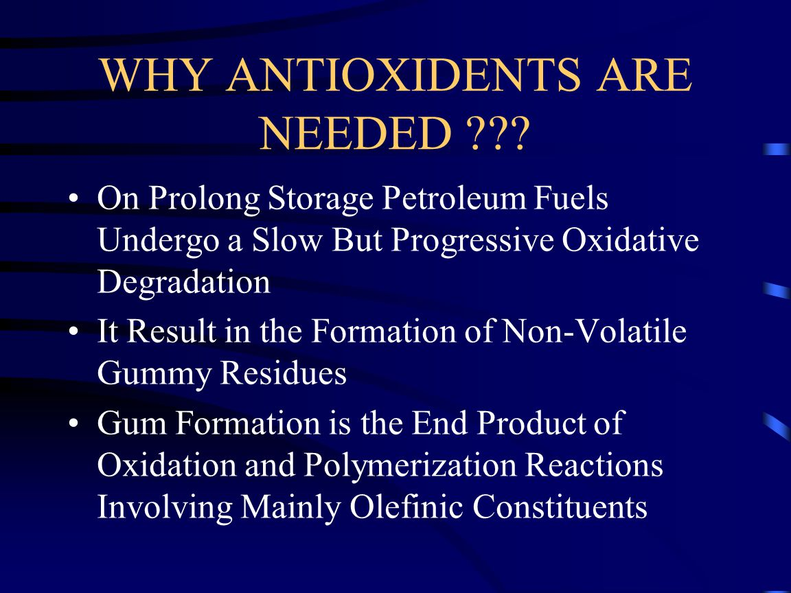 WHY ANTIOXIDENTS ARE NEEDED