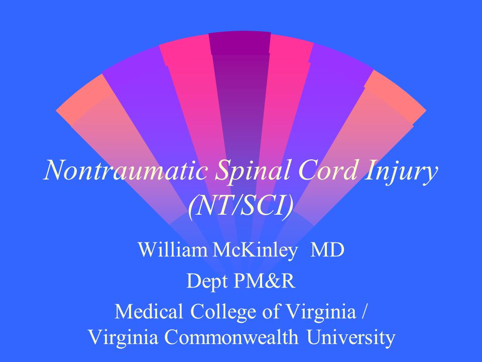 Nontraumatic Spinal Cord Injury (NT/SCI)