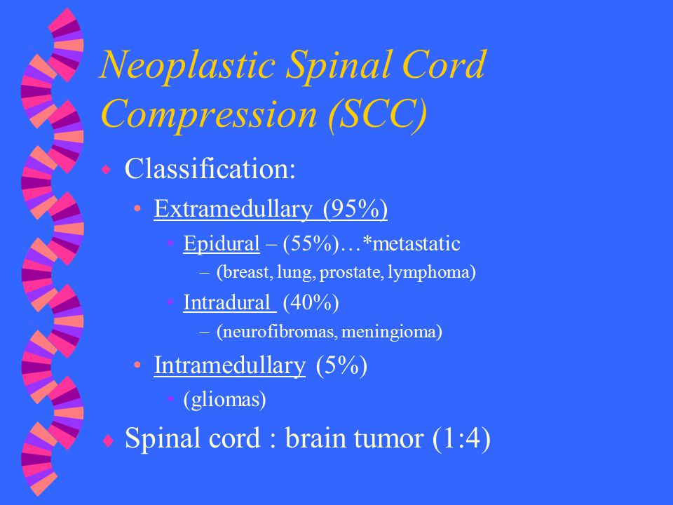 Neoplastic Spinal Cord Compression (SCC)