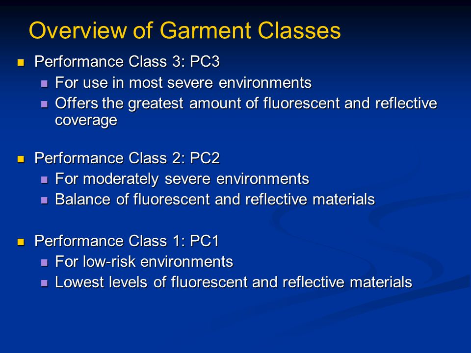 Overview of Garment Classes