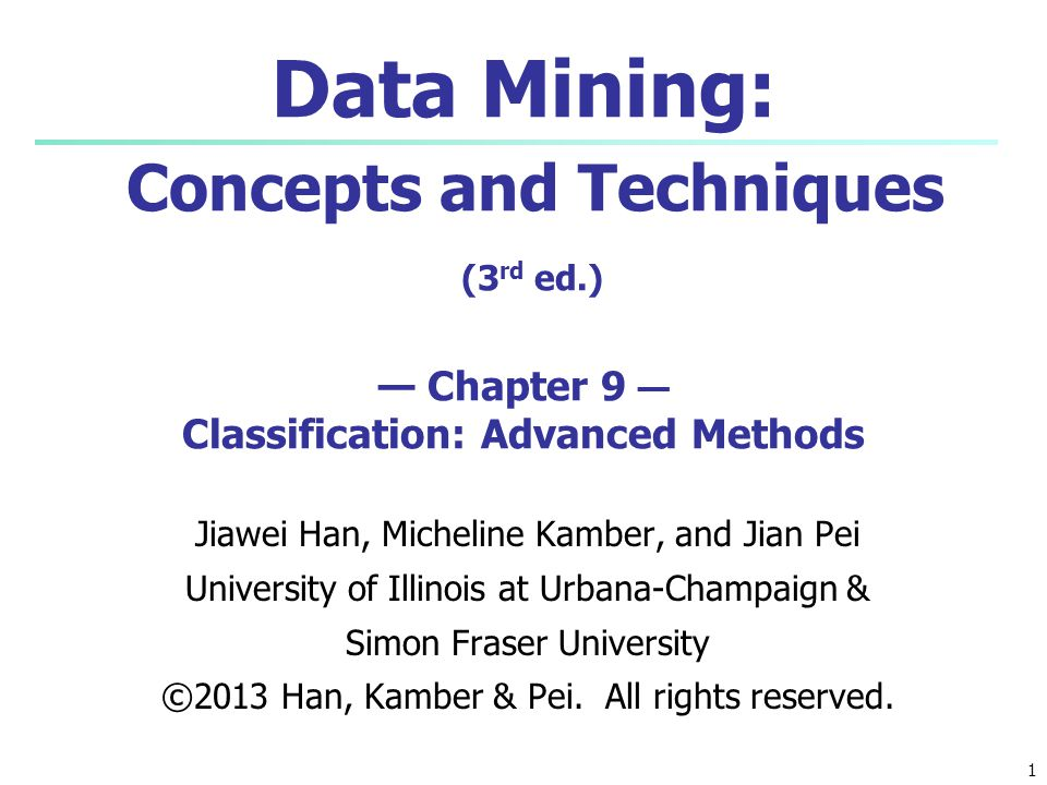 Data Mining: Concepts and Techniques (3rd ed
