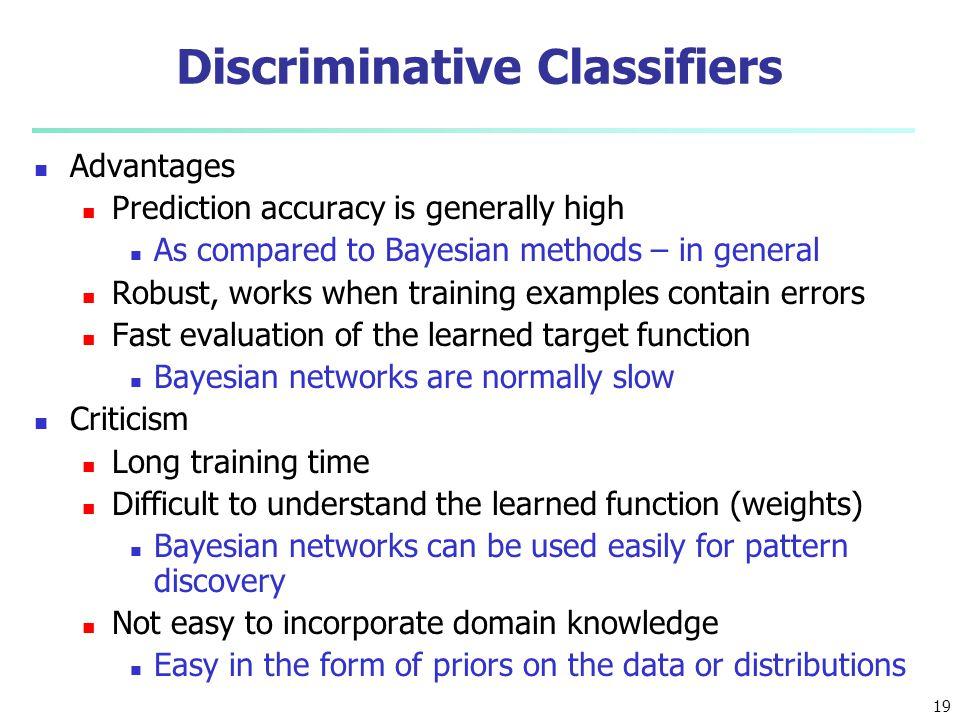 Discriminative Classifiers