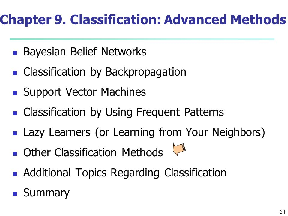 Chapter 9. Classification: Advanced Methods