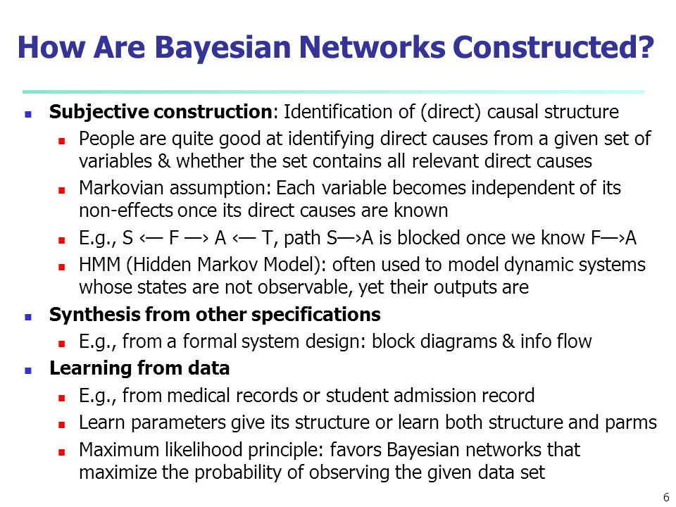 How Are Bayesian Networks Constructed