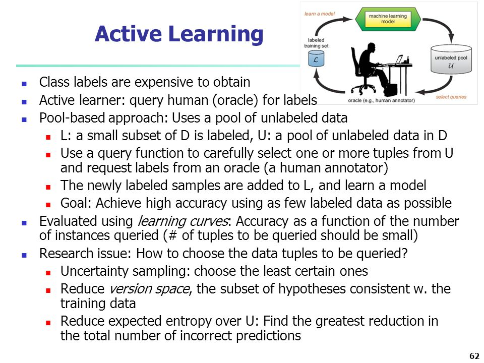 Active Learning Class labels are expensive to obtain