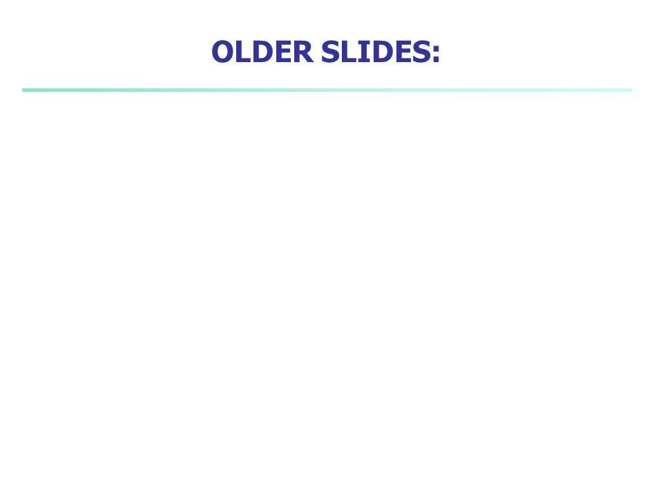 OLDER SLIDES: