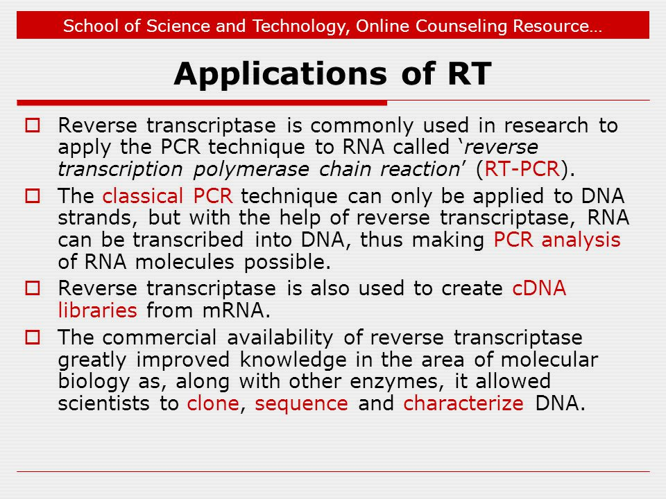 Applications of RT