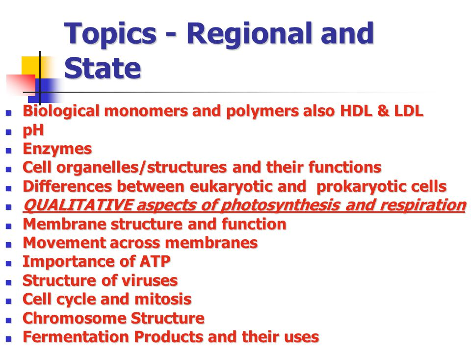 Topics - Regional and State