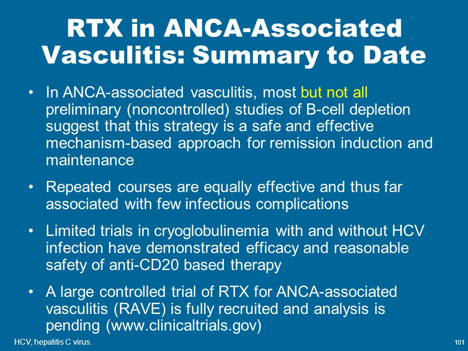 RTX in ANCA-Associated Vasculitis: Summary to Date