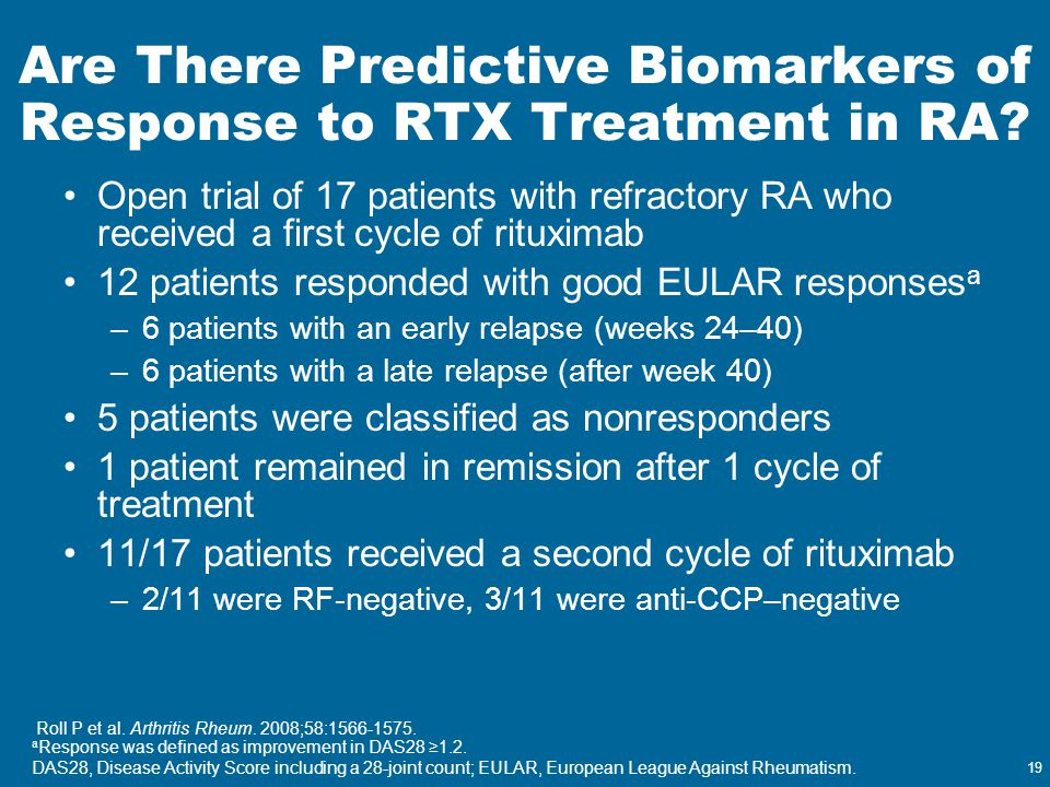 Are There Predictive Biomarkers of Response to RTX Treatment in RA