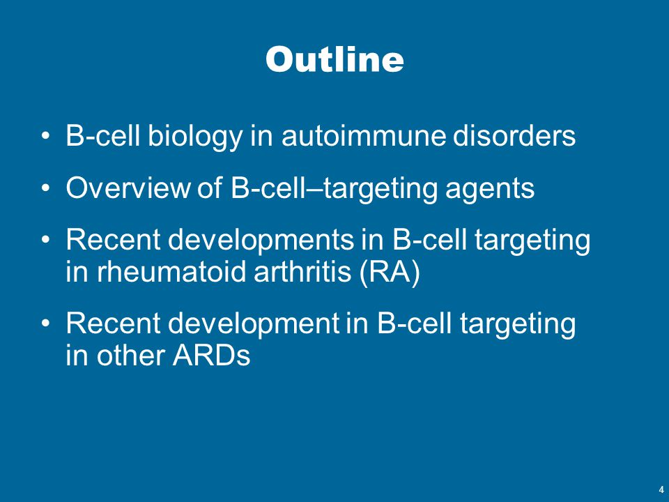 Outline B-cell biology in autoimmune disorders