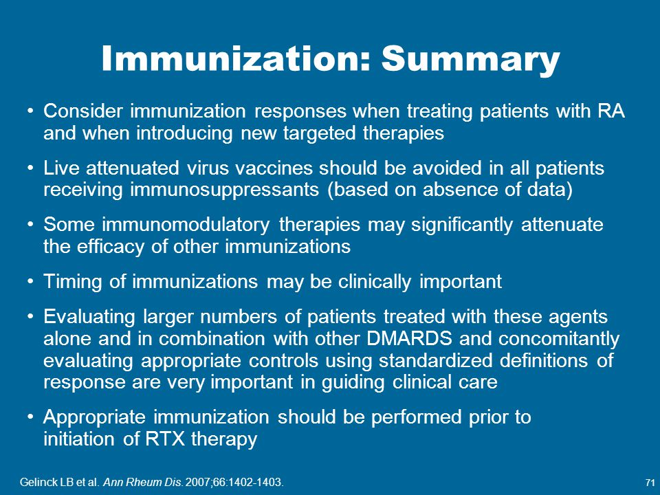 Immunization: Summary
