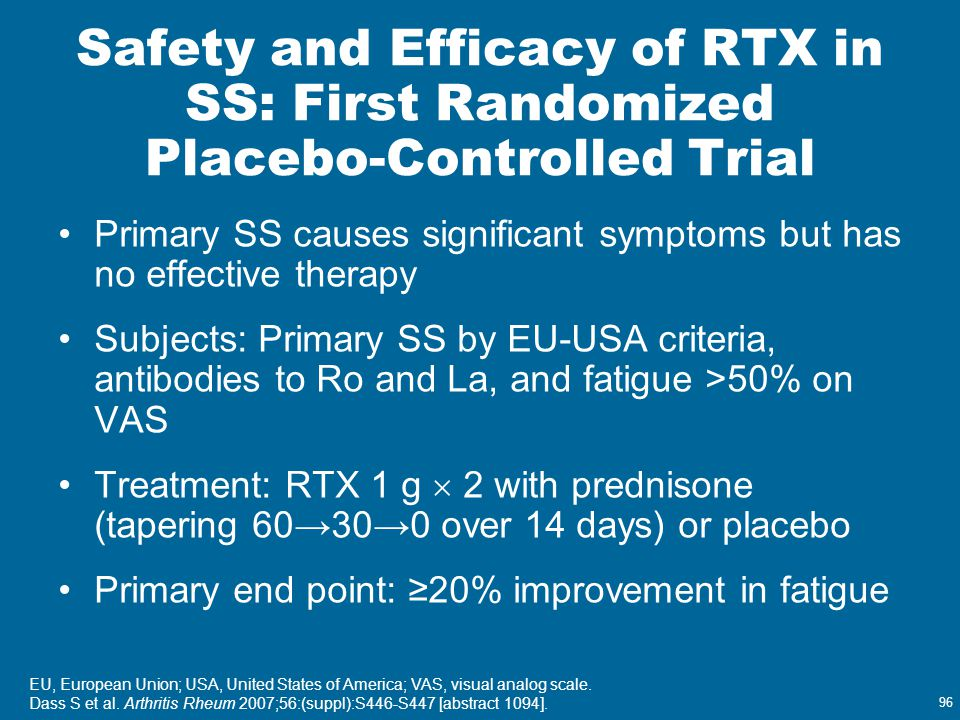 Safety and Efficacy of RTX in SS: First Randomized Placebo-Controlled Trial