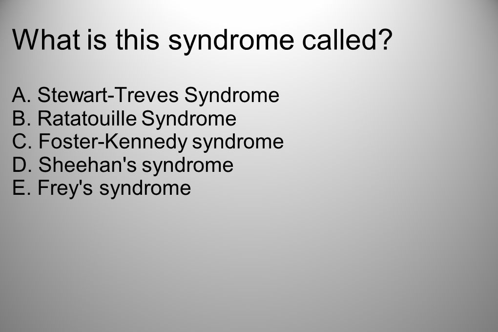 What is this syndrome called