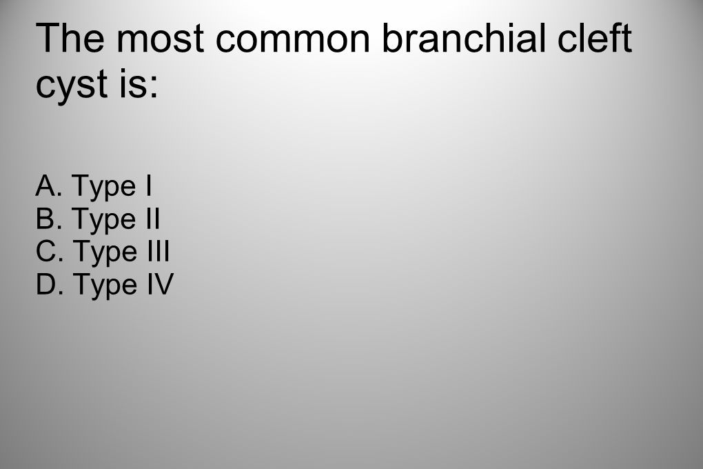 The most common branchial cleft cyst is: