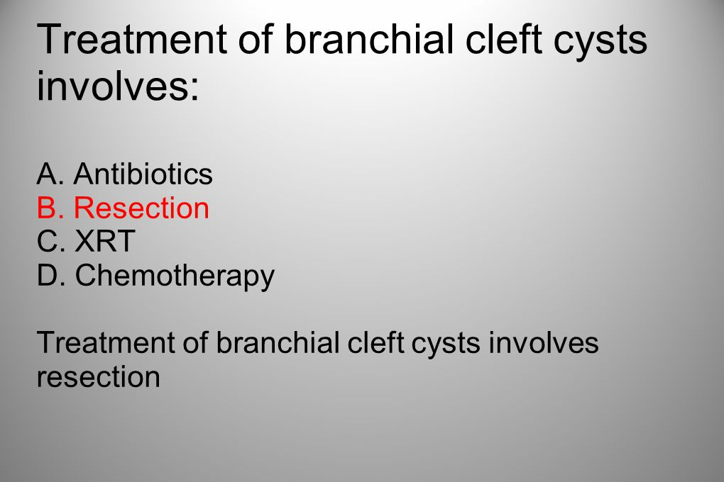 Treatment of branchial cleft cysts involves:
