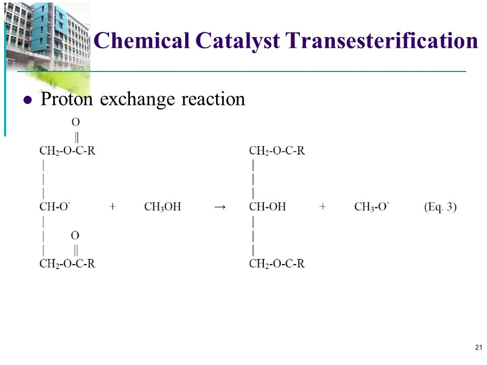 Chemical Catalyst Transesterification