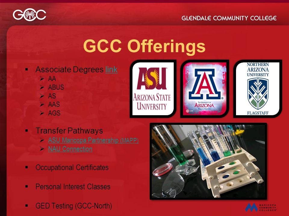 GCC Offerings Associate Degrees link Transfer Pathways