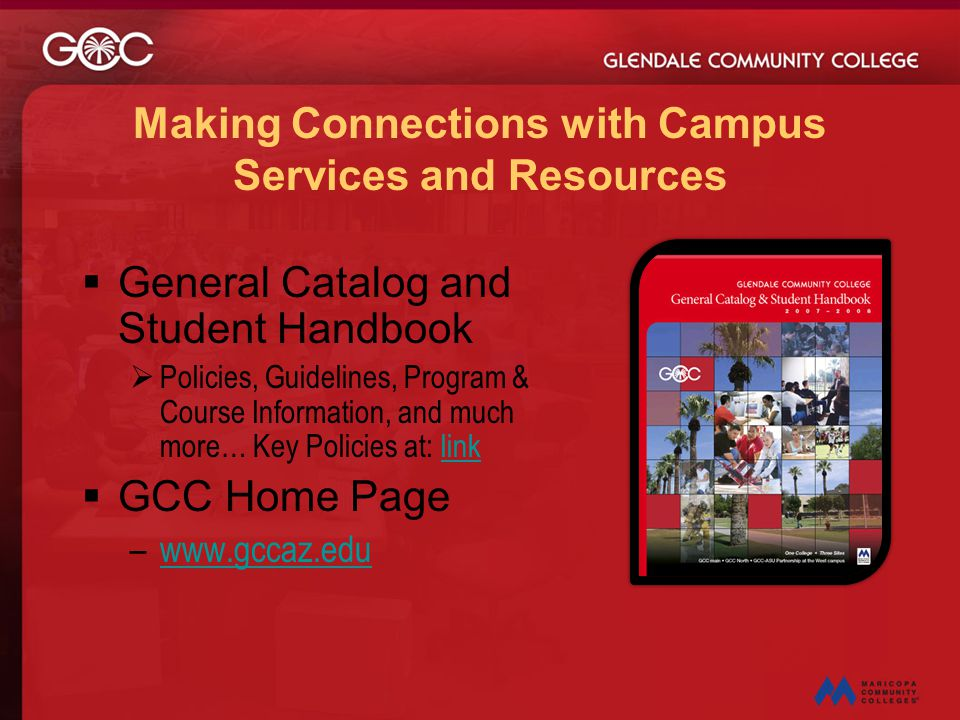 Making Connections with Campus Services and Resources