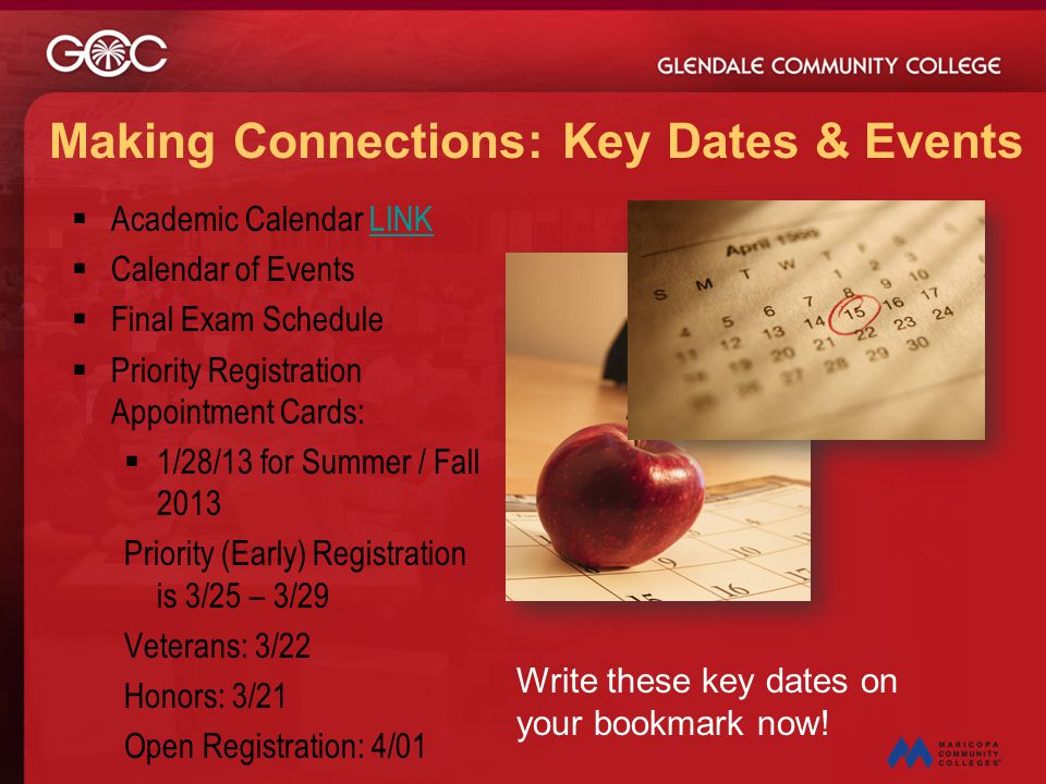 Making Connections: Key Dates & Events
