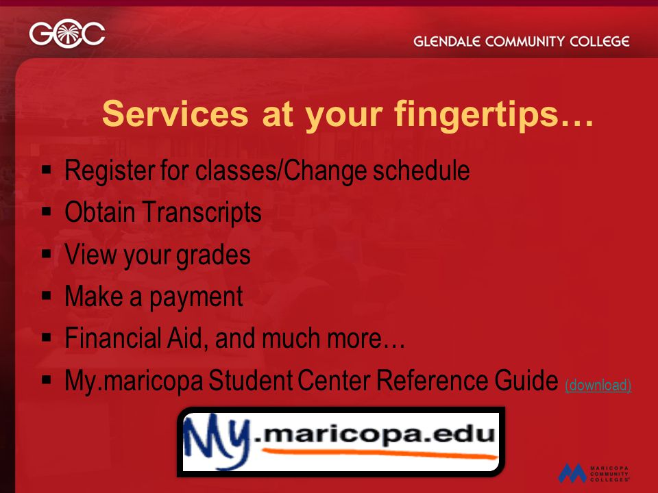 Services at your fingertips…