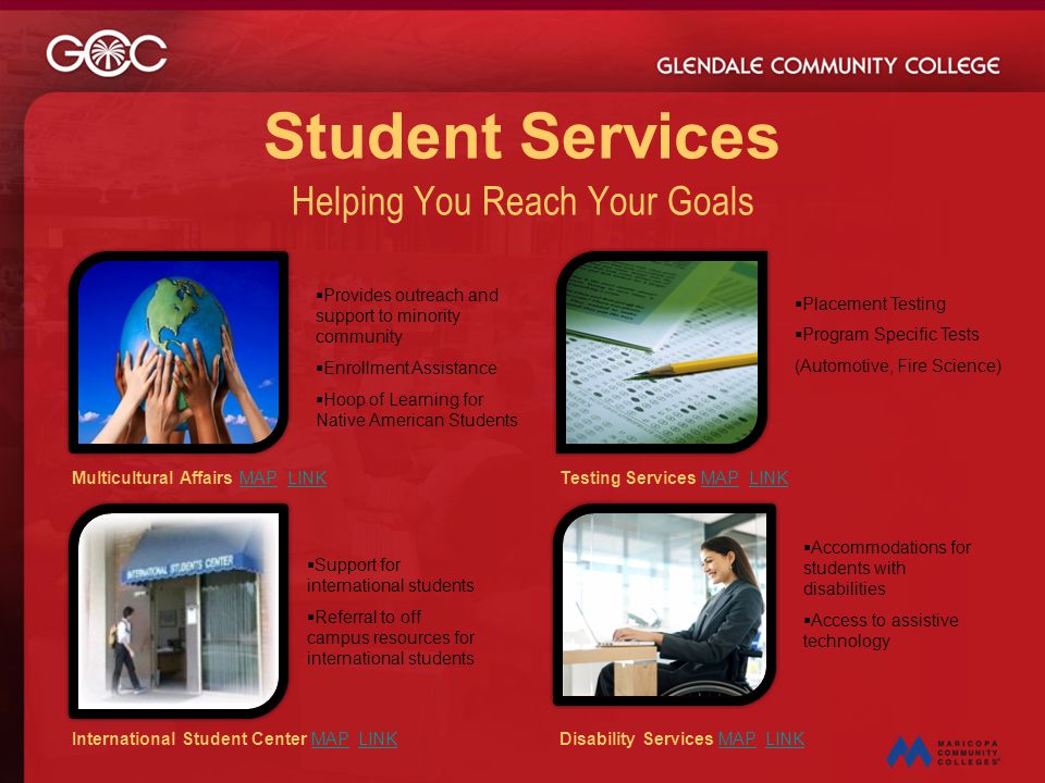 Student Services Helping You Reach Your Goals