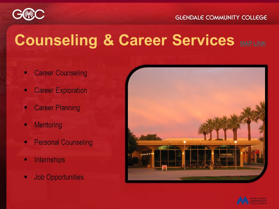 Counseling & Career Services MAP LINK