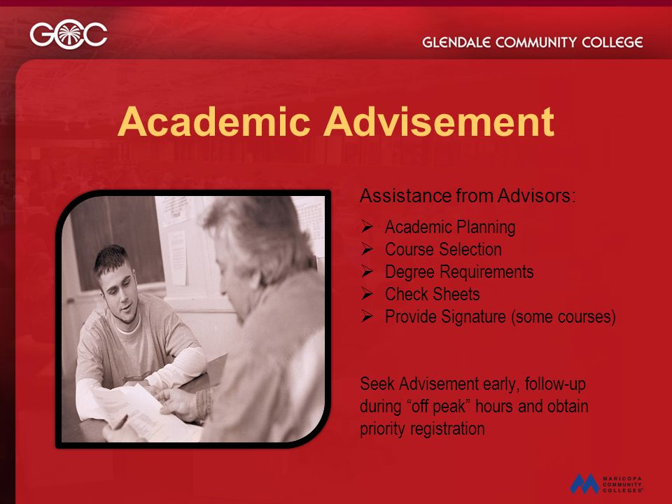 Academic Advisement Assistance from Advisors: Academic Planning