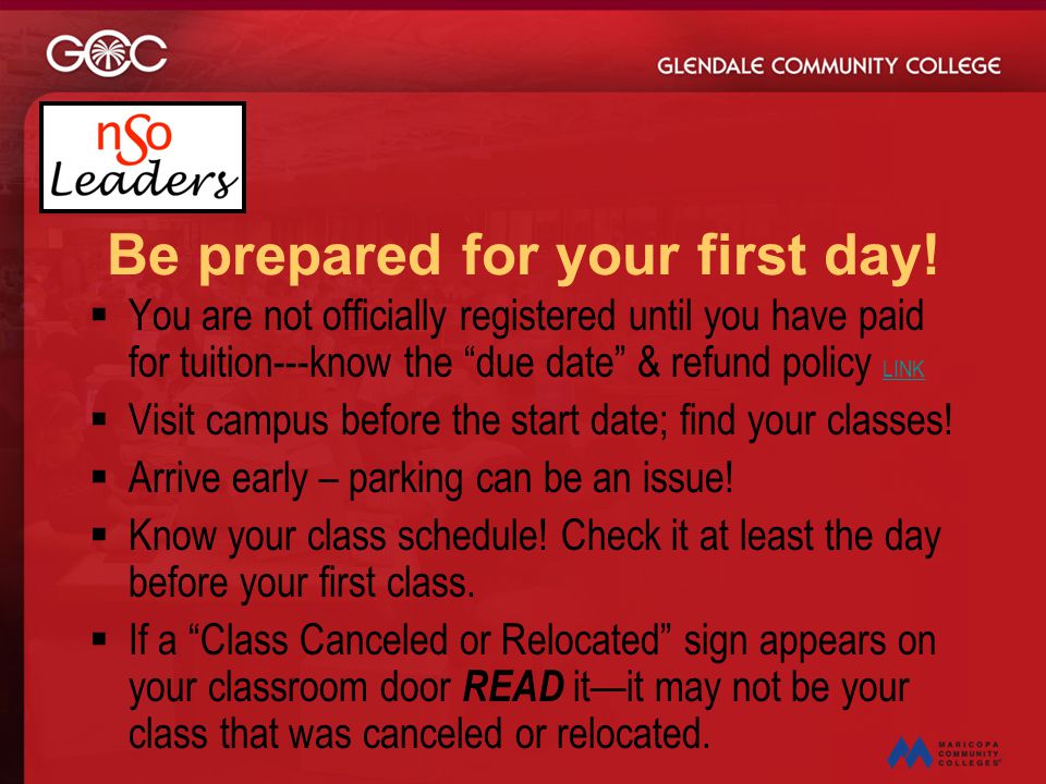 Be prepared for your first day!
