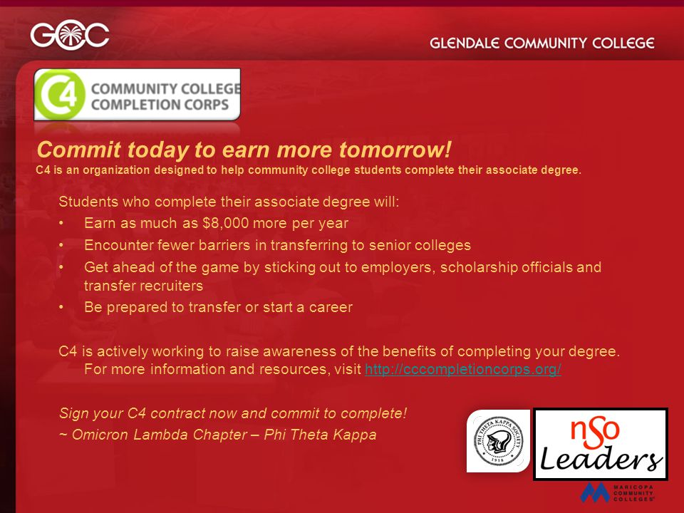 Commit today to earn more tomorrow