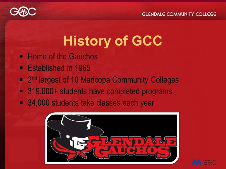 History of GCC Home of the Gauchos Established in 1965