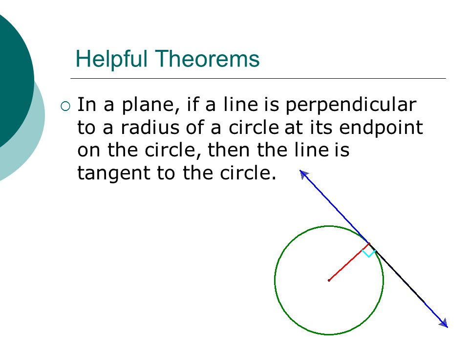 Helpful Theorems