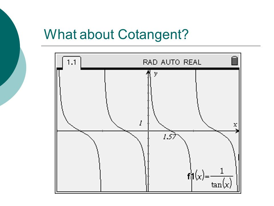What about Cotangent