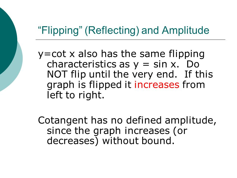 Flipping (Reflecting) and Amplitude